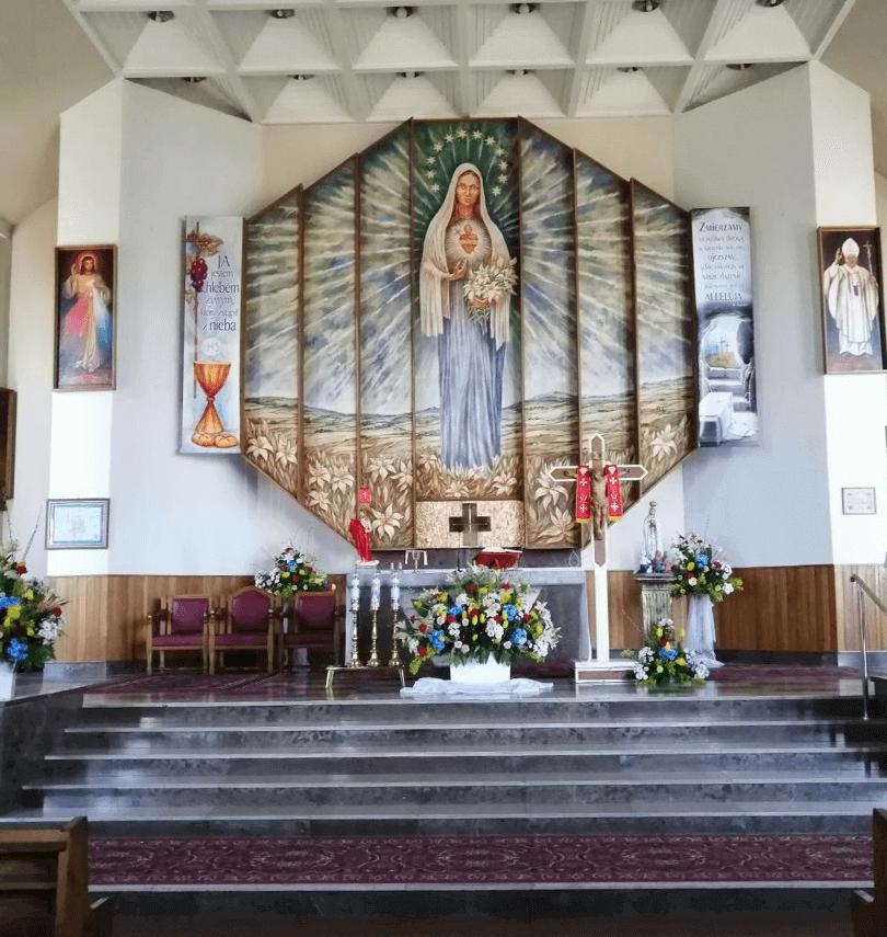 Kościół Bierwce Wnętrze